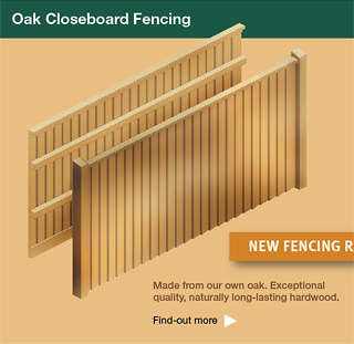 Oak closeboard  fencing