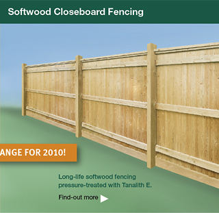 Softwood closeboard fences