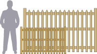 Picket fence recommended sizes.