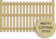 Cottage style picket fencing