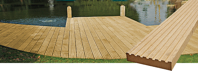 Hardwood Garden Decking From The Orlestone Oak Mill In